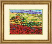 Tuscan Poppies Cross Stitch Kit by Dimensions