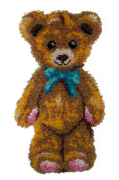 Boston The Teddy Bear Latch Hook Rug  By Grafitec