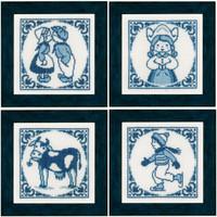 Delft Blue Set Cross Stitch Kit By Lanarte