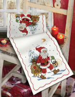 Santa/Sledge Runner Cross Stitch Kit By Anchor