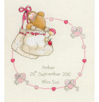 Country Companions: Birth Record: New Baby Cross Stitch Kit By Anchor