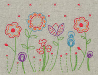 Freestyle: Starter: Fleur Kit Embroidery Kit By Anchor