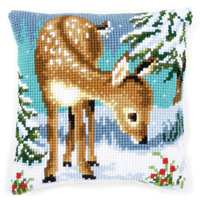 Little Deer Chunky Cross Stitch Cushion Kit By Vervaco