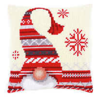 Christmas Elf 1 Chunky Cross Stitch Cushion Kit By Vervaco