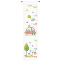 Counted Cross Stitch: Height Chart: Roadtrip Kit By Vervaco