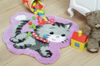 Shaped Rug: Cat Latch Hook Kit By Vervaco