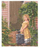 The Gardener's Daughter  Cross Stitch Kit by Janlynn