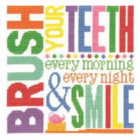 Brush Your Teeth  Cross Stitch Kit by Janlynn