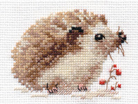 Hedgehog Cross Stitch Kit by Alisa