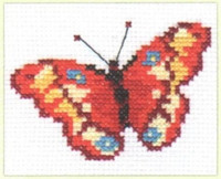 Butterfly Cross Stitch Kit by Alisa