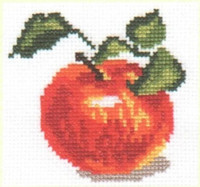 Apple Cross Stitch Kit by Alisa