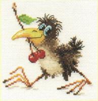 Baby Crow Cross Stitch Kit by Alisa