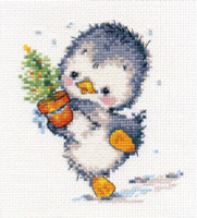 I hasten to the Feast Cross Stitch Kit by Alisa
