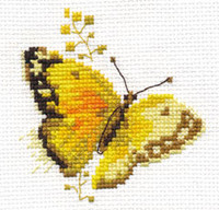 Colourful Butterflies - Yellow Cross Stitch Kit by Alisa