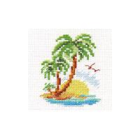 Palm Island Cross Stitch Kit by Alisa