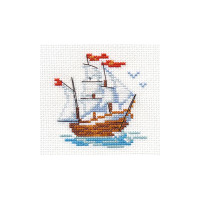 Ship Cross Stitch Kit by Alisa