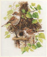 Warblers Cross Stitch Kit by Alisa