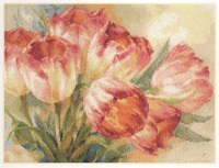 Tulips Cross Stitch Kit by Alisa