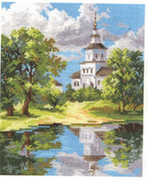 The Church near the Pond Cross Stitch Kit by Alisa