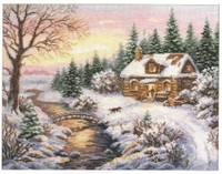 Winter - Towards evening Cross Stitch Kit by Alisa