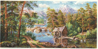 Landscape with a Watermill Cross Stitch Kit by Alisa