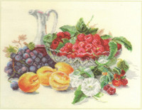Apricots and Raspberries Cross Stitch Kit by Alisa