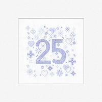 '25' Birthday Cross Stitch Card Kit By Heritage