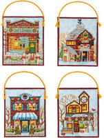 Counted Cross Stitch: Ornaments: Winter Village By Dimensions