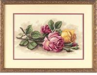Rose Cuttings Cross Stitch Kit