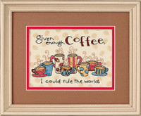 Enough Coffee Stamped Cross Stitch Kit