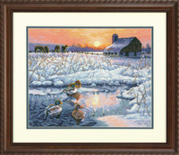 Winter Morning Cross Stitch Kit By Dimensions