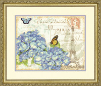 Paris Hydrangea Cross Stich Kit By Dimensions