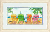 Beach Chairs  Cross Stitch Kit By Dimensions