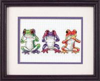 Tree Frog Trio Cross Stitch Kit