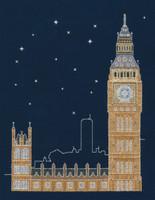 London By Night Cross Stitch Kit By DMC