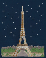 "Paris By Night ""Glow in the Dark"" Cross Stitch Kit By DMC"