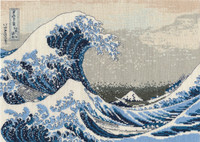The great Wave Cross Stitch Kit By DMC