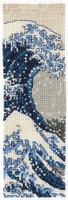 The Great Wave Bookmark Cross Stitch Kit By DMC