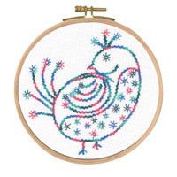 Pretty Coy Printed Emboidery Kit By DMC