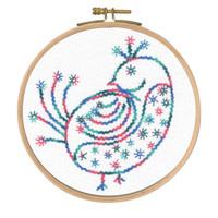 Pretty Coy Printed Emboidery Kit By DMC