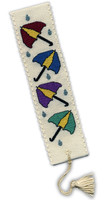 Umbrellas Bookmark Cross Stitch Kit by Textile Heritage