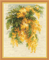 Mimosa Cross Stitch Kit By Riolis