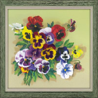 Pansies Satin Stitch Emboidery Kit By Riolis