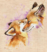 Foxes Cross Stitch By Luca S