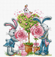 Bunny Love Cross Stitch Kit by Luca S