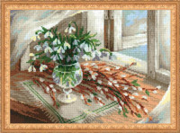 Willows and Snowdrops Cross Stitch Kit By Riolis