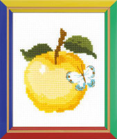 Apple beginners Cross Stitch Kit By Riolis