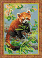 Red Panda Cross Stitch Kit By Riolis