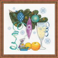 Happy New Year Cross Stitch Kit by Riolis