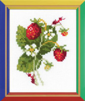 Wild Strawberries Cross Stitch Kit by Riolis